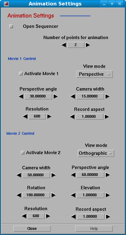 Animation Settings PathDX